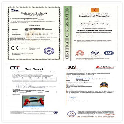 Custom Plastic Body PU Polyurethane Foam Gun For Construction