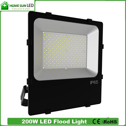 Best Outdoor LED Flood Light Fixtures SMD3030 200W Slim Aluminium Black Body IP65 Waterproof Landscape Bulb