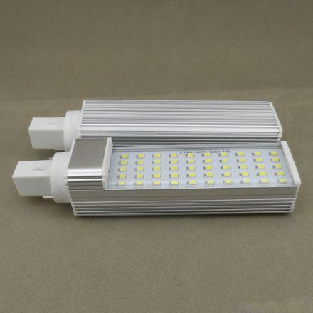LED 4 pin bulb G24q 10W 6500K aluminium housing with good heat dissapation
