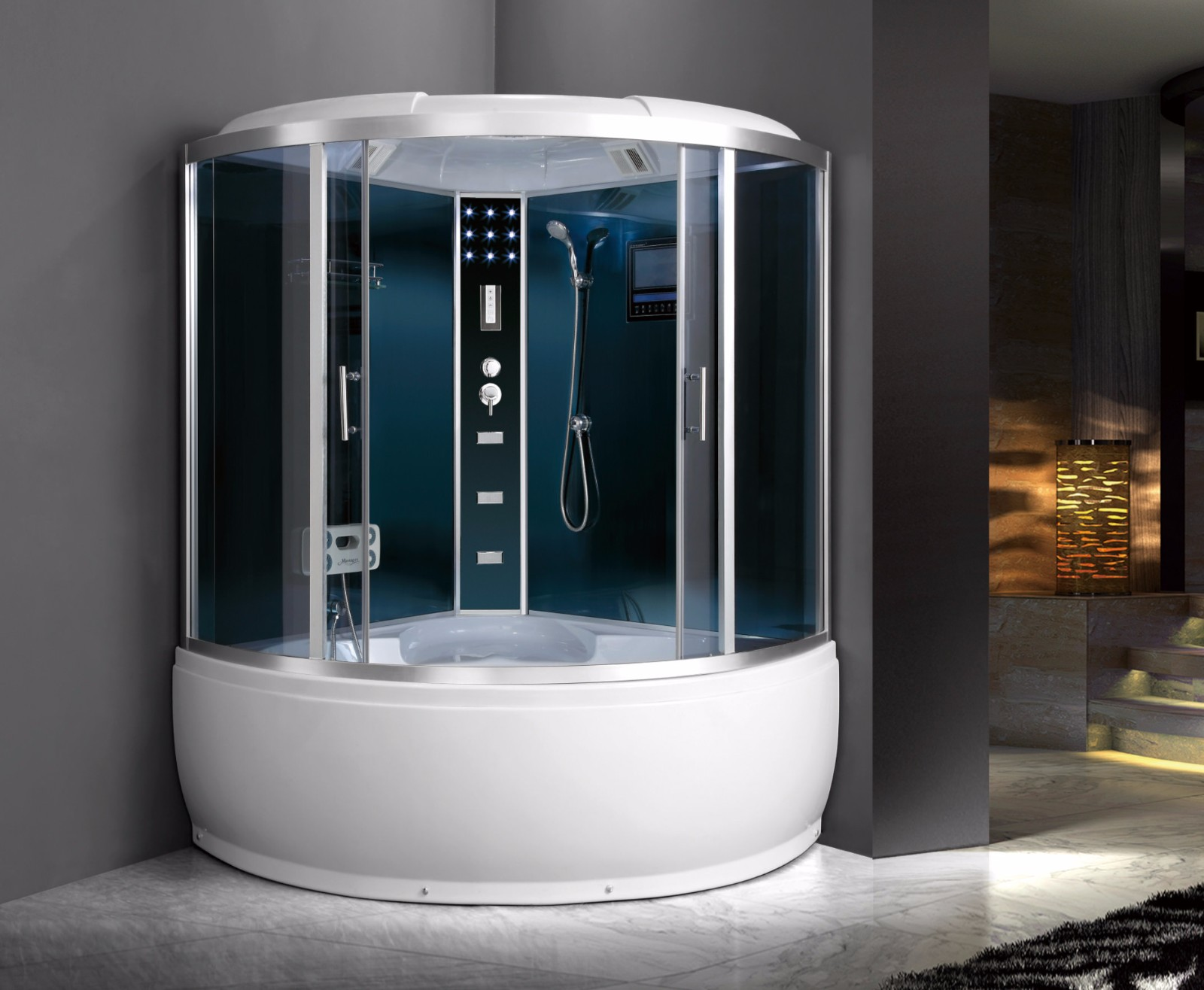 M-515-A Steam Jetted Corner Sector Shower Enclosure with Bathtub for Sale.jpg