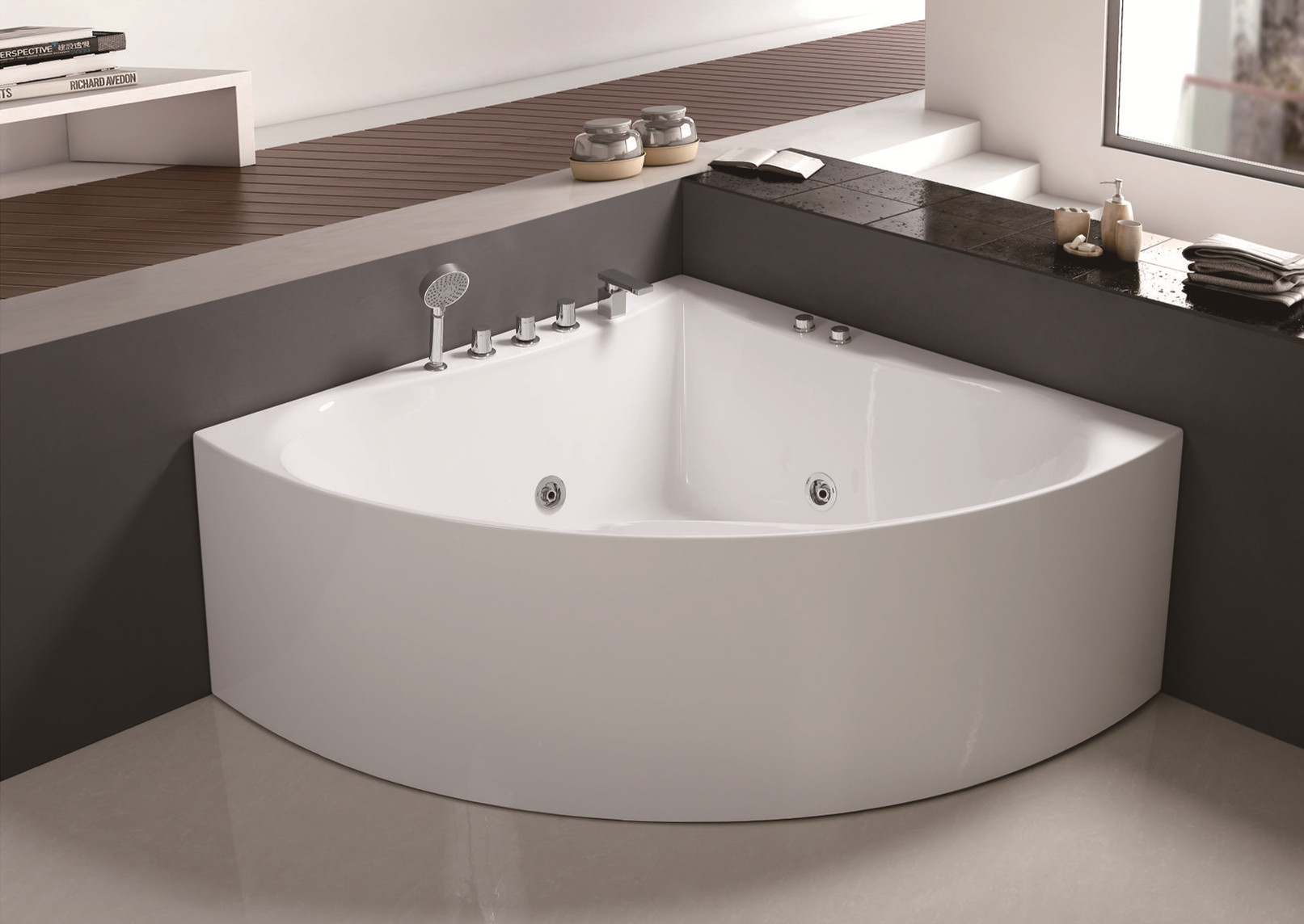 C-413 Smooth Acrylic  Modern Simple  Hot Sale Tub Whirlpool Bathroom Bathtub with Cheap Price.jpg
