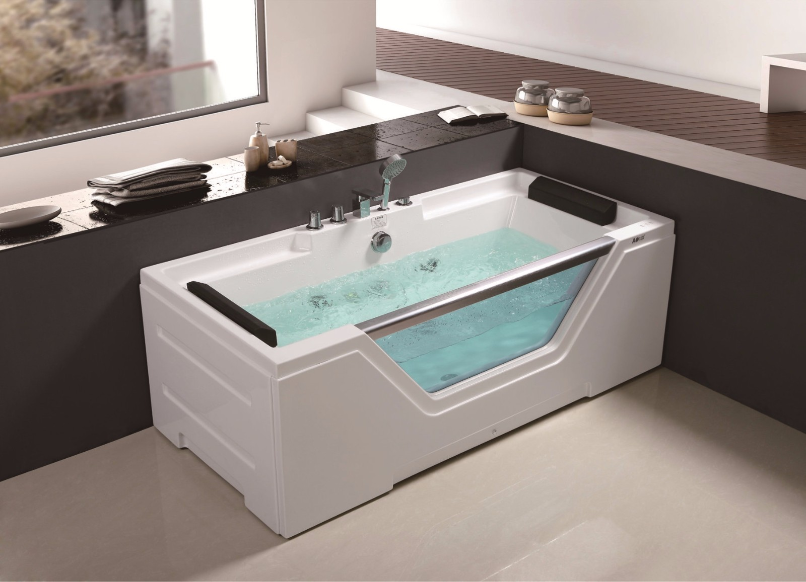 C-433 C-434 C-435 )  Simple Design Acrylic  Glass Jetted Hot Sale Tub Bathroom Bathtub with Cheap Price.jpg