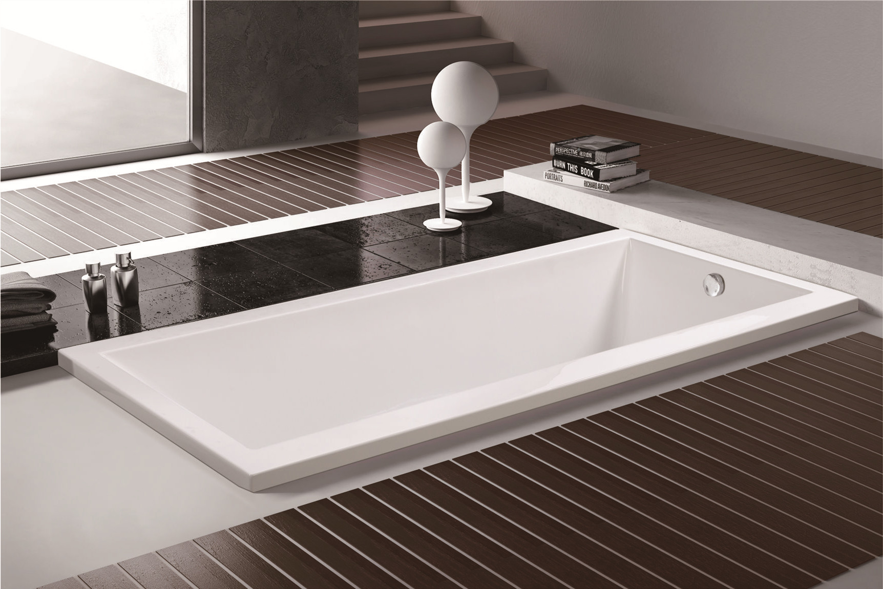 MEC070--Simple Design Economic White Acrylic Rectangle Drop-in Soaking Hot Tub.jpg